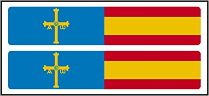 Artimagen Pegatina Rectángulos Largo Azul Cruz Amarilla + Bandera ...