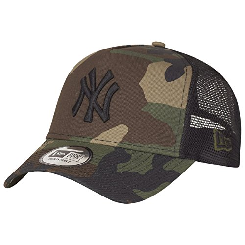 New Era Camo Team 9FortyAF Trucker Cap One Size New York Yankees -