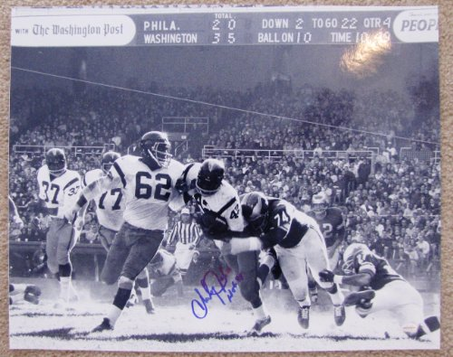 (Charley Taylor Autographed 16x20 Rookie Photograph - Washington Redskins Hall of Fame Inscription)