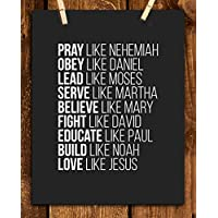 "Spiritual Super Role Models- Bible Wall Art- 8x10""-Christian Poster Print-Ready to Frame. Home-Office-Church Décor. Christian Gifts-Decorations. Inspiring & Encouraging Mentors- Setting the Bar High!"