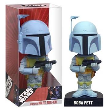 Amazon.com: Funko Star Wars Holiday Special Bobble Head Boba Fett ...