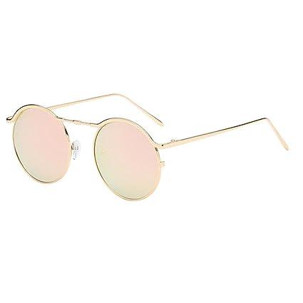 Sunday Estilo Vintage Retro Lennon Gafas de Sol Polarizadas Círculo Metálico Redondo Gafas Para Hombres y Mujeres (B)