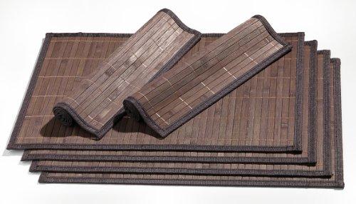 Ritzenhoff & Breker 357998 Platzmatten-Set Bamboo 6 teilig, dunkelbraun