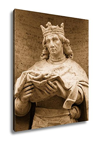 Ashley Canvas Statue Of Saint Louis, Wall Art Home Decor, Ready to Hang, Sepia, 20x16, AG6545845 ()