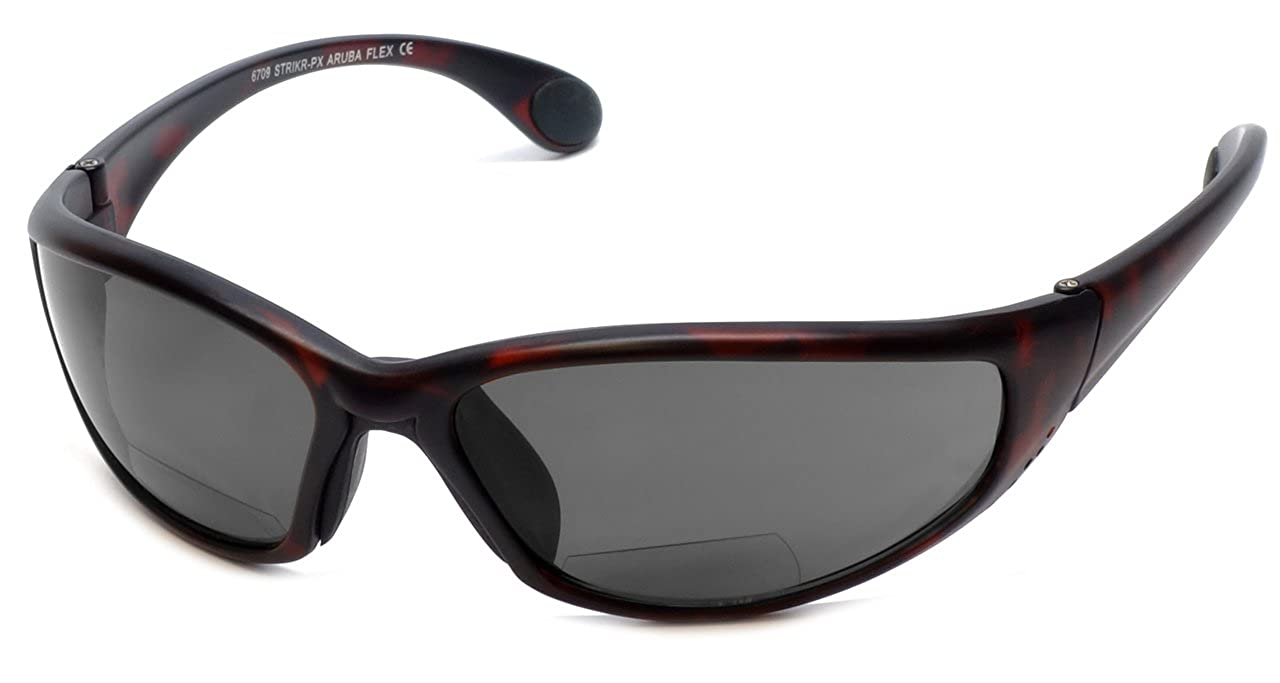 e3262e283bc Amazon.com  Grand Banks 6709 Polarized Bi-Focal Reading Sunglasses in  Matte-Tortoise with Amber Lens +1.50  Clothing