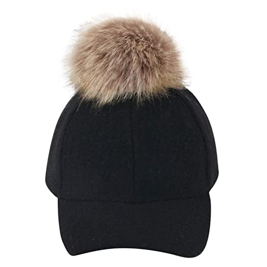 Hip-top Warm Cap hat Adjustable Fur Baseball Cap hat Outdoor Casual caps