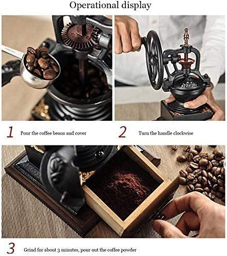 Vintage Style Manual koffiemolen, keramische conische Portable Hand Crank Coffeemaker Grinder leilims