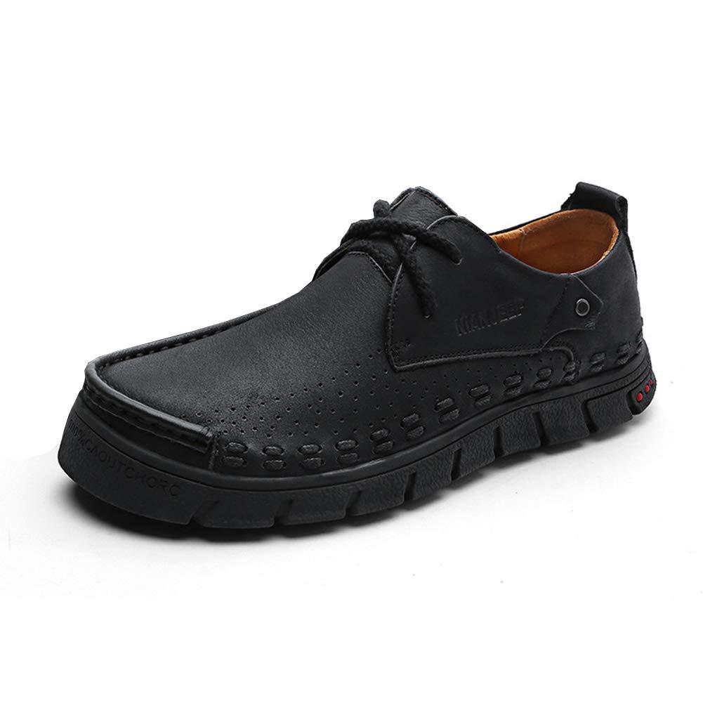 CYL Herrenschuhe aus Leder, Spitzenschuhe aus Leder, Herrenschuhe, verschleißfeste atmungsaktive, stoßdämpfende Schuhe mit niedrigem Oberteil, große, lässige Schuhe