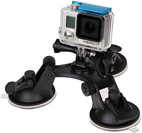 Triangle Direction Suction Cup Mount with Hexagonal Screwdriver for GoPro New Hero //HERO6//5//5 Session //4 Session //4//3+ //3//2 //1 Xiaoyi and Other Action Cameras XM70-A Reliable