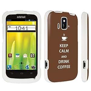 DuroCase ? ZTE Radiant Z740 / Sonata 4G Z740G Hard Case White - (Keep Calm Drink Coffee)