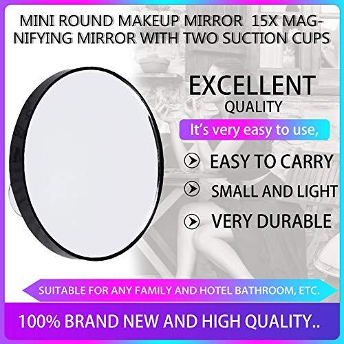 Specchio ingranditore da Trucco Mini Round 5X 10X 15X con Due Ventose