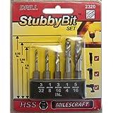 Milescraft 2320 Metal Stubby Drill Bit Set by Milescraft Inc.