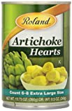 Roland Foods Artichoke Hearts, Extra Large, 13.75 Ounce (Pack of 12)