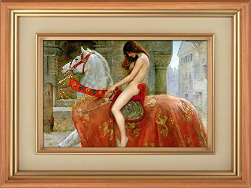 Creative 3D Visual Effect Wall Mural Lady Godiva (1898) by John Collier Peel Stick Wall Decor