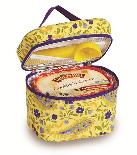 Pique Ice Cream - Picnic Plus Insulated Ice Cream Carrier Holds 1 1/2 Quarts Or 2 Pints