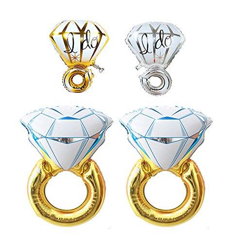 Ucity 2pcs Diamond Engagement Ring Balloons (45