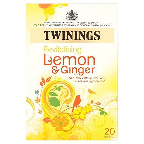 Twinings Lemon & Ginger Tea - 20s - Pack of 2 (20s x ()