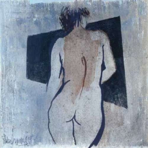 """Studies from the nude III by Heleen Vriesendorp - 20"""" x 20"""" Giclee Canvas Art Print"""