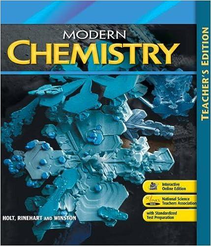 Amazon com: Modern Chemistry: Teacher's Edition 2009 (9780030367878