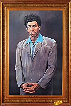 FRAMED Pyramid Seinfeld Kramer 24×36 Poster in Real Wood Premium Matte Black Finish Crafted in USA