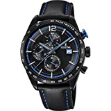 Men's Watch Festina - F20344/4 - Chronograph - Tachymeter - Date - Leather Strap - Black and Blue