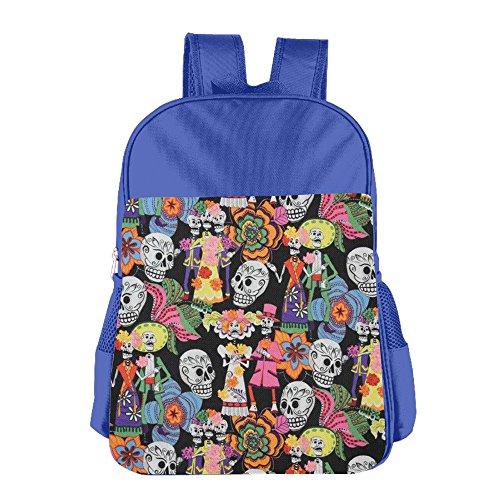 (Halloween Party Skull School Backpack Bookbag School Bag Lightweight Durable Shoulder Bag Kids Student Bag Boys/Girls For 4-15 Years)