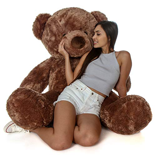 Giant Teddy Original Bear Brand - Biggest Selection of Life Size Stuffed Teddy Bears (Mocha Brown, 5 Foot)