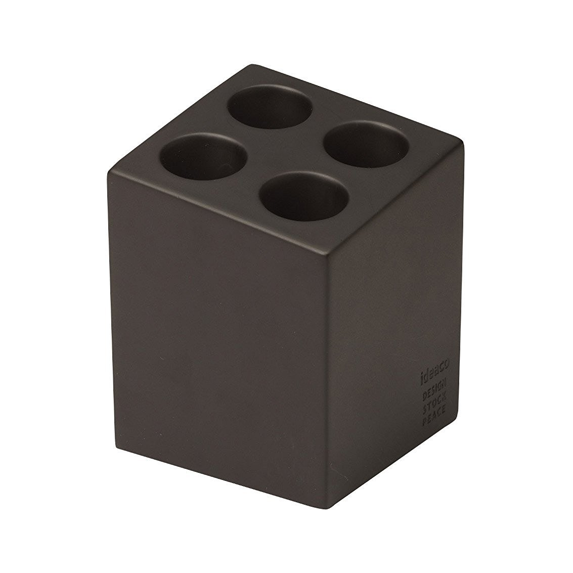Ideaco Japan Compact Minimalist Design Umbrella Stand Mini Cube 4 Slot MATTE BROWN by Ideaco