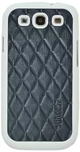 Funda protectora lengua Suncase en cuero genuino para Samsung i9305 Patrón Galaxy S III LTE 4G piel del cocodrilo de Brown