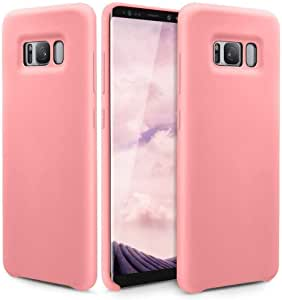 Samsung Galaxy S8 Cover  Silicone Silky & Soft Touch Finish, PINK