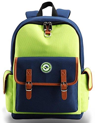 Kids Backpack Children Bookbag Preschool Kindergarten Elementary School Travel Bag for Girls Boys(16182 Large green)