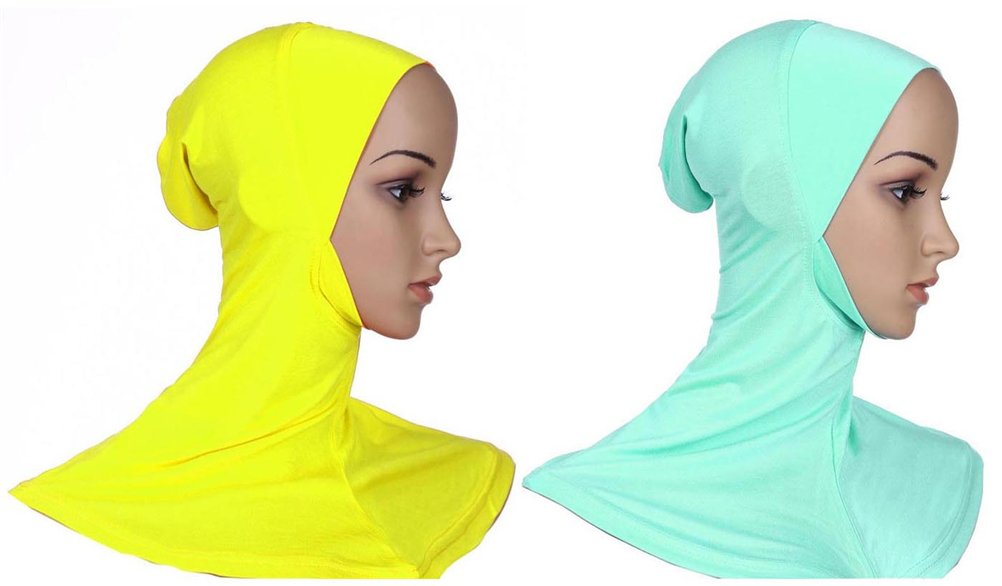 Fortuning's JDS 2pcs Women's graceful comfortable modal full cover Muslim underscarf inner-cap Hijab caps