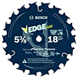 Bosch CBCL518A 5-3/8-Inch 18 Tooth ATB General Purpose Saw Blade with 10mm Arbor