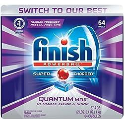 Finish Quantum Max Shine & Protect Dishwasher Detergent Tablets, Fresh Scent, 64 ct
