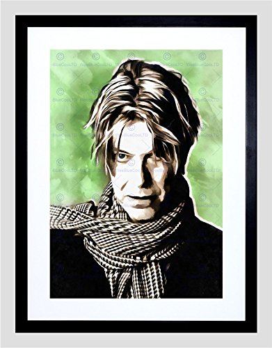 The Art Stop Painting Portrait POP Star Musician David Bowie Framed Print F12x9761