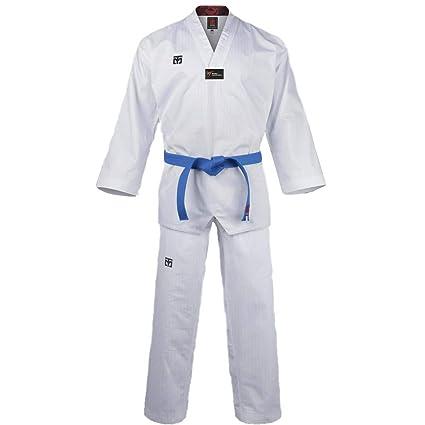 Mooto Korea Taekwondo Basic 4.5 Uniform Weißer Hals WT Logo TKD Kampfsport MMA Karate, Jiu Jitsu, Kickboxen