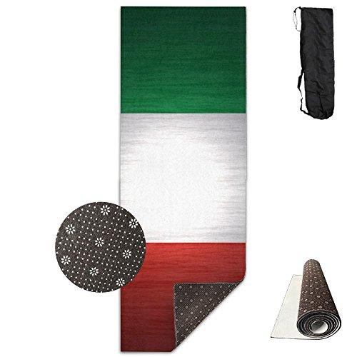 BINGZHAO Italy Glorious Flag Exercise Yoga Mat For Pilates,Gym,Fitness,Travel & Hiking by BINGZHAO