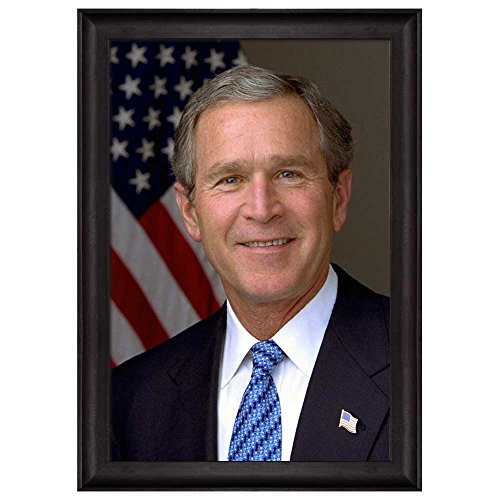 Portrait of George W Bush (43th President of the United States) American Presidents Series Framed Art Print