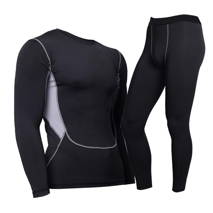 Chándal de ropa interior funcional para hombres - Juleya Thermal Underwear Set Camiseta de compresión Tops