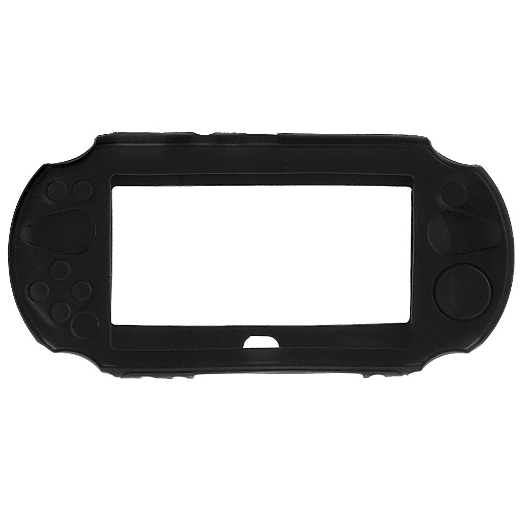 GMSP Silicone Rubber Soft Protective Case Cover for Sony Playstation PS Vita 2000 (Black)