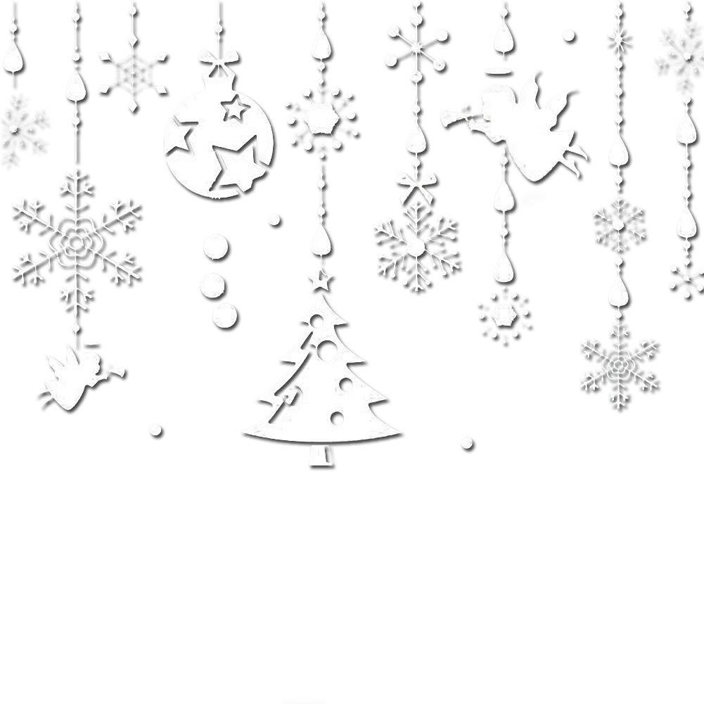 Hemore 60 * 90cm di Angelo di Natale Adesivi Decorazione dell'albero di Parete 1 Pacchetto Bianchi Bianca Natale Addobbi e Decorazioni per ricorrenze