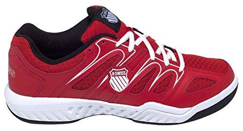 K-Swiss Calabasas Mesh Omni Zapatillas, Hombre rojo / blanco / negro