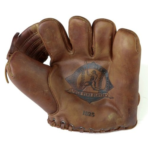Old Time Baseball Mitt (Shoeless Joe Gloves 1925 Fielders Glove, Brown, Right Handed)