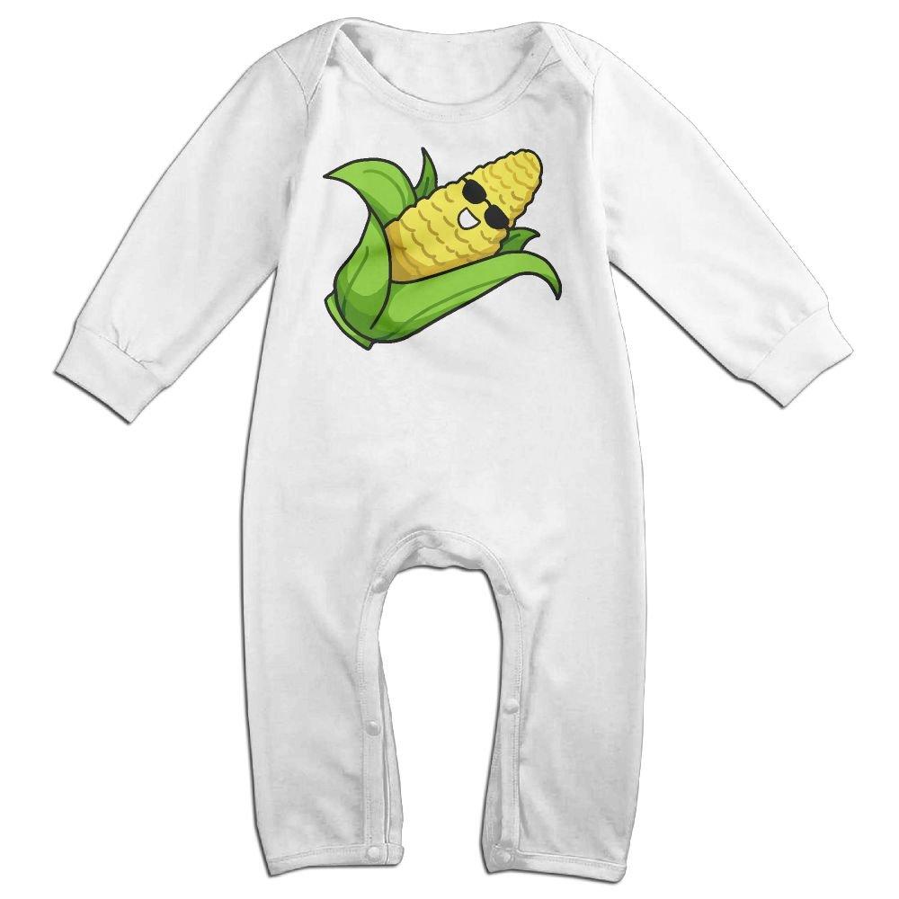 Mri-le1 Baby Girl Long Sleeve Jumpsuit Corn Cartoon Baby Rompers