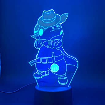 Bedside lamp Go Cowboy with Cap Figure Children Night Light Bedroom Atmosphere NightLight Led 3D Lamp Pendant Boat