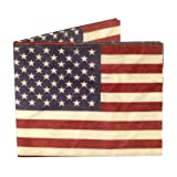 Dynomighty Men's US Flag Mighty Wallet - Super Thin Lightweight Tyvek Billfold