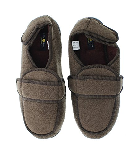Orthopedic Mens Foam Strap Adjustable Slipper Bootie Jude Shoes Chocolate Wrap GOLDTOE Memory House Wide qvdwXvTZ