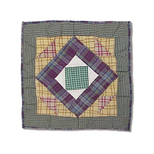 Hand quilted Cotton Patchwork Toss Pillow Square Diamond from Patch (Patch Magic Square Diamond)