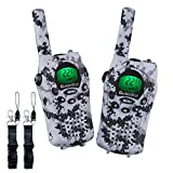 OuterStar Durable Walkie Talkies for Kids,22 Channel FRS/GMRS 5 Miles Long Range Two Way Radios with 2 Free Straps£¬ Back-lit LCD Screen/Handheld for Kids/Families Toys, Games, Gifts(Grey Camouflage)