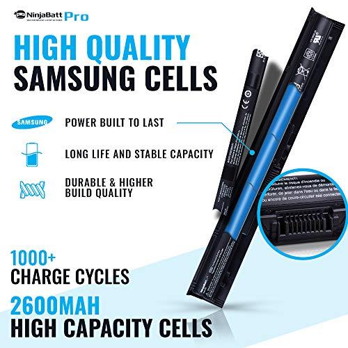 NinjaBatt Pro Battery for HP KI04 800049-001 TPN-Q160 TPN-Q158 TPN-159 TPN-Q161 TPN-Q162 HSTNN-LB6R HSTNN-DB6T HSTNN-LB6S 800010-421 – Samsung Cells [4 Cells/2600mAh/38Wh] by NinjaBatt (Image #1)